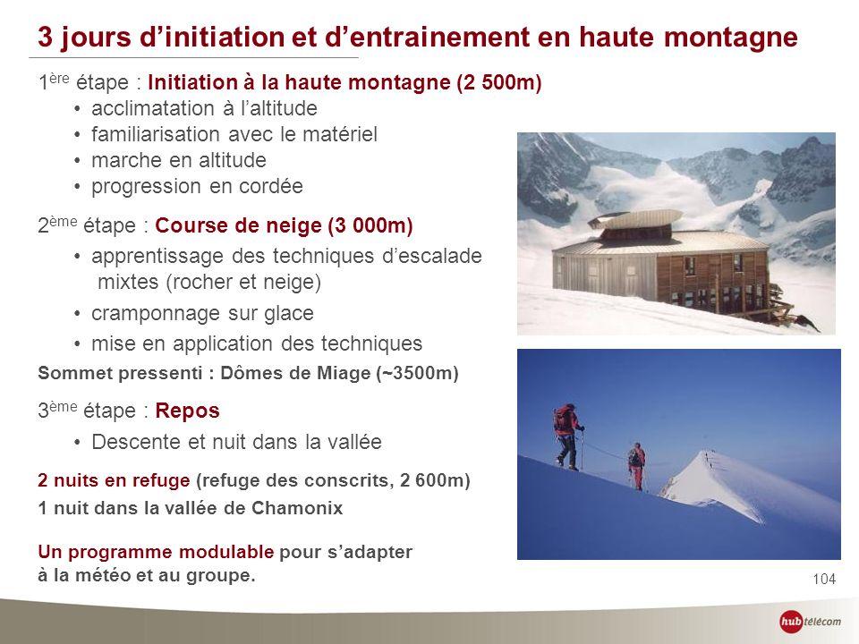 3 jours d'initiation et d'entrainement en haute montagne