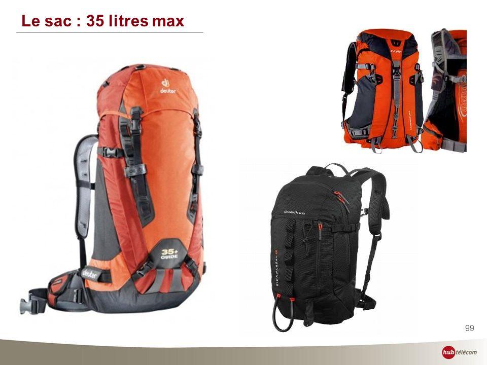 Le sac : 35 litres max