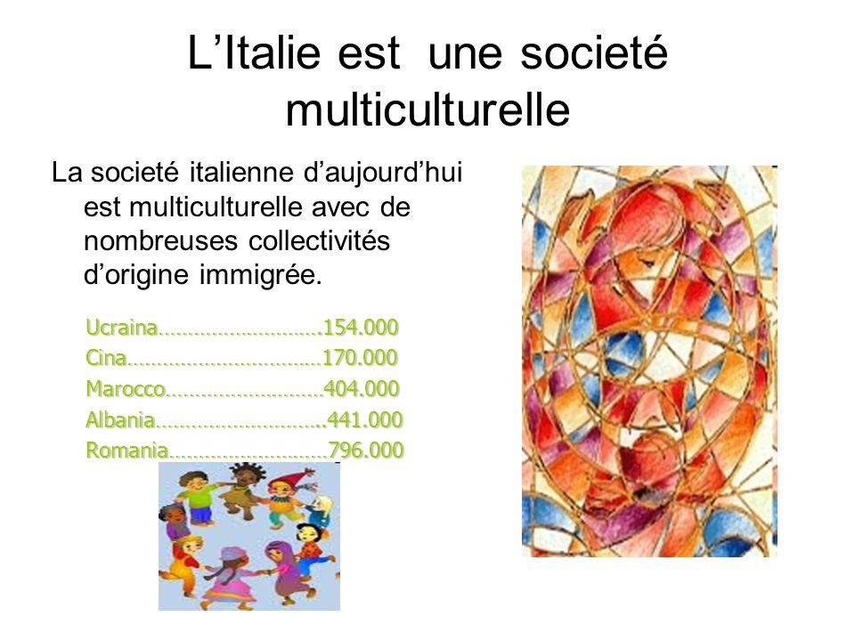 L'Italie est une societé multiculturelle