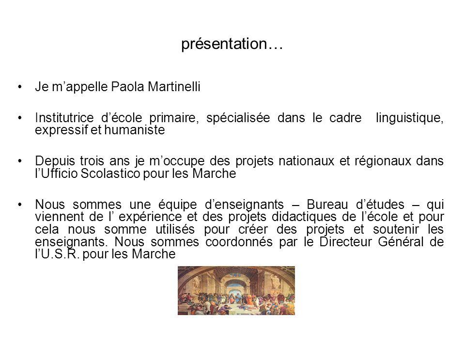 présentation… Je m'appelle Paola Martinelli