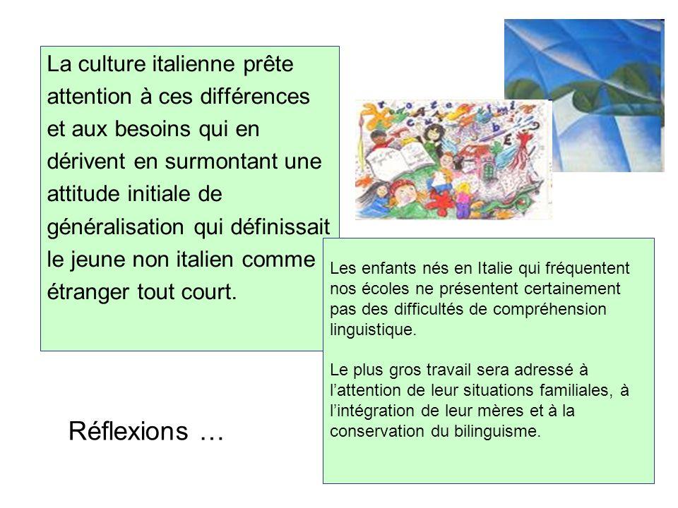 Réflexions … La culture italienne prête attention à ces différences