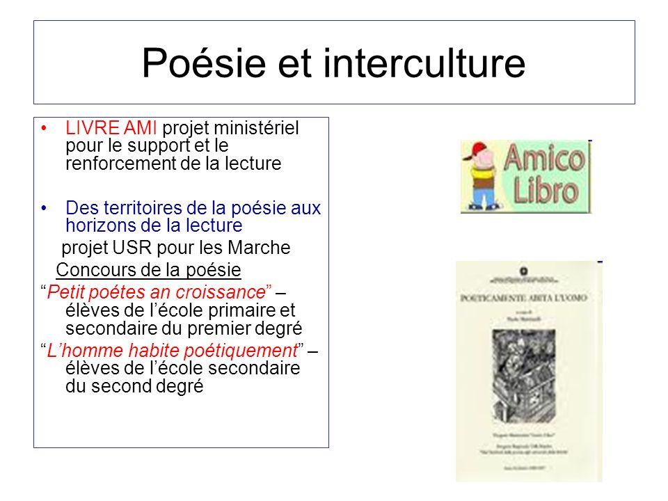 Poésie et interculture