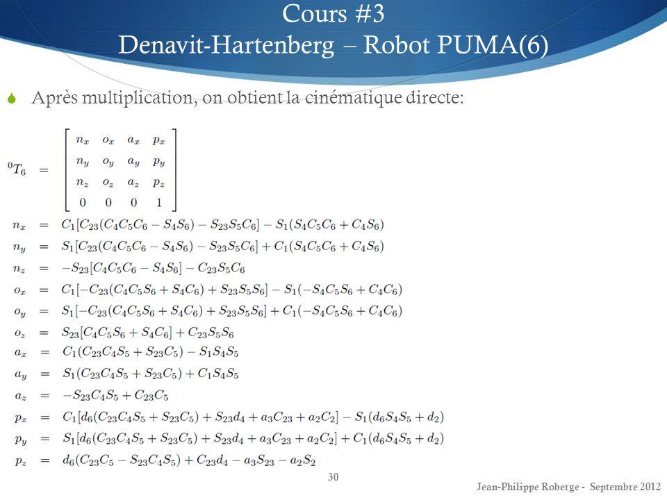 Denavit-Hartenberg – Robot PUMA(6)