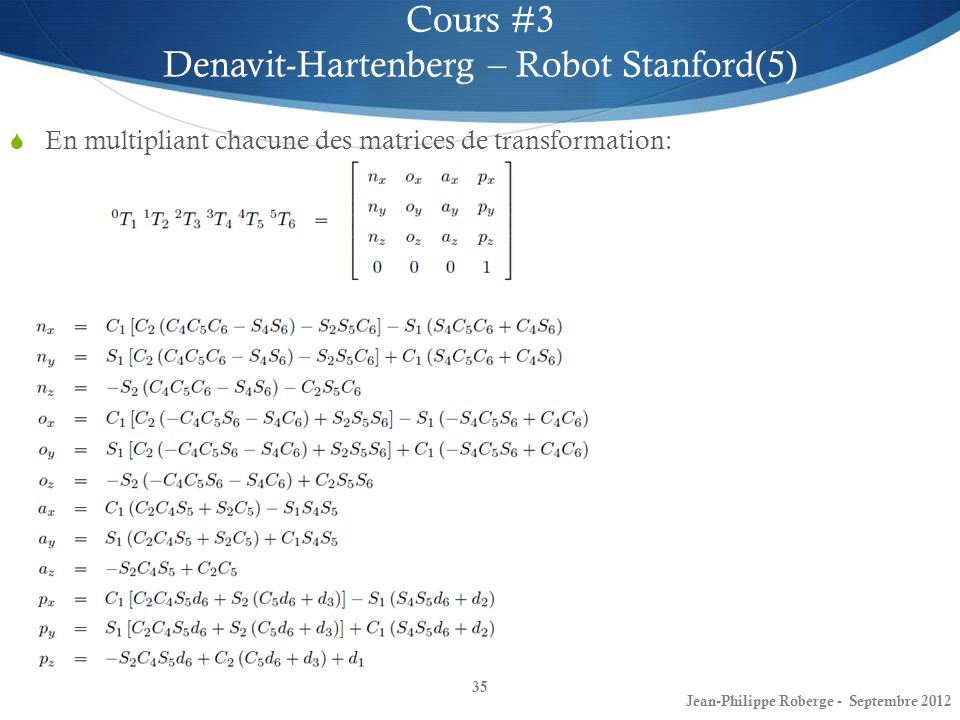 Denavit-Hartenberg – Robot Stanford(5)