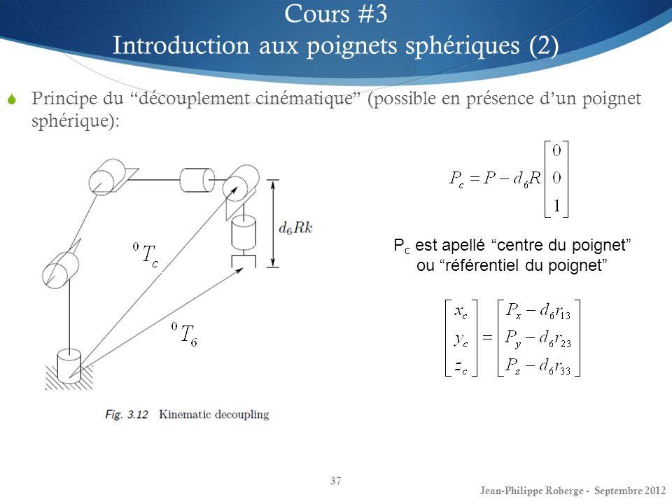 Introduction aux poignets sphériques (2)