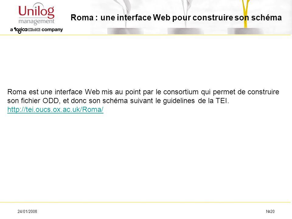Roma : une interface Web pour construire son schéma