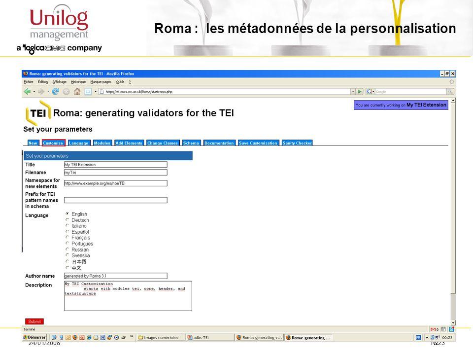 Roma : les métadonnées de la personnalisation