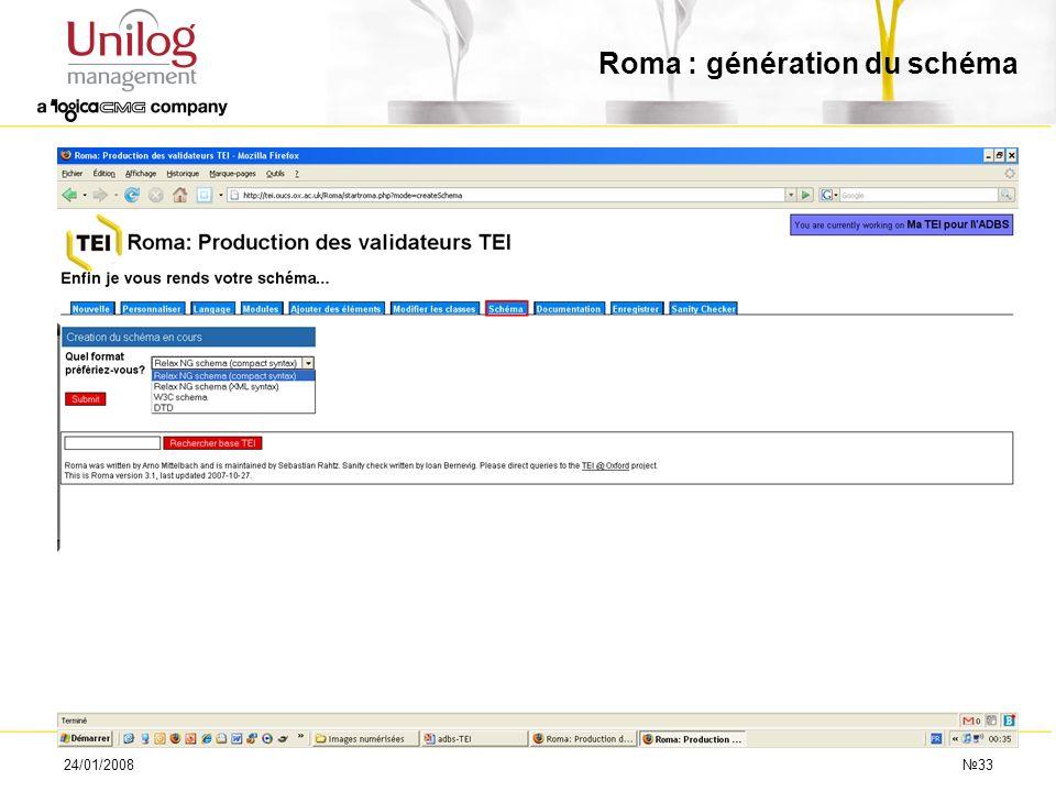 Roma : génération du schéma