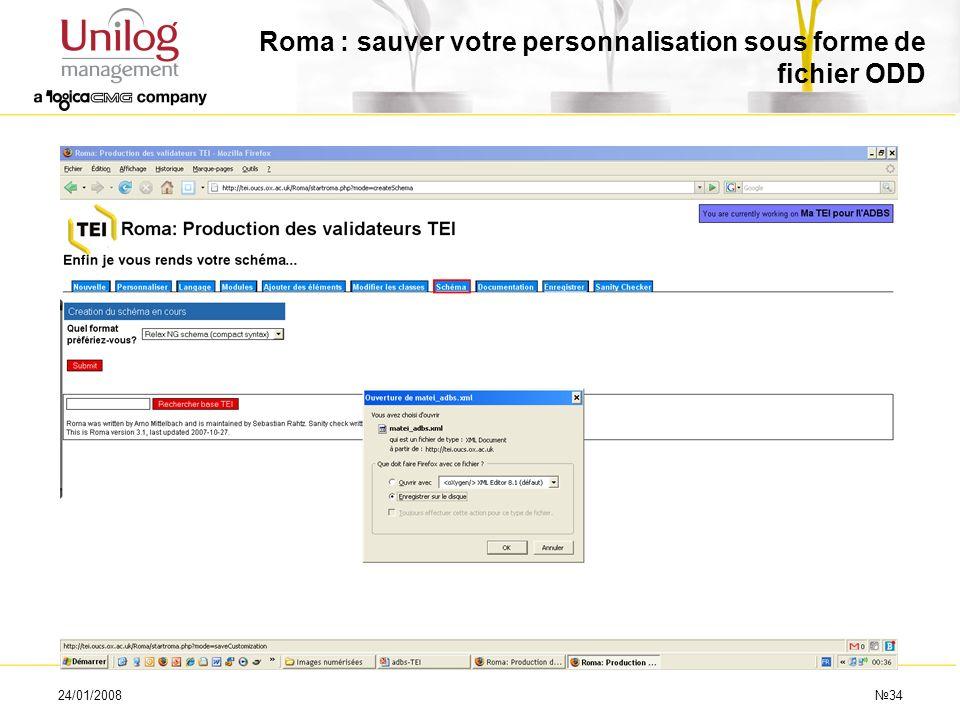 Roma : sauver votre personnalisation sous forme de fichier ODD