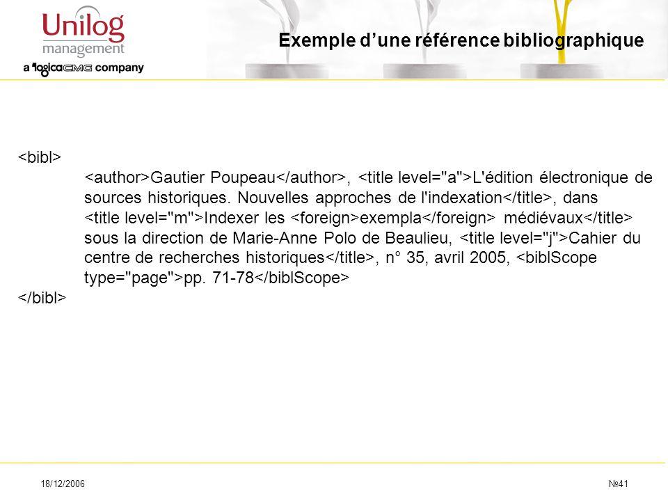 Exemple d'une référence bibliographique