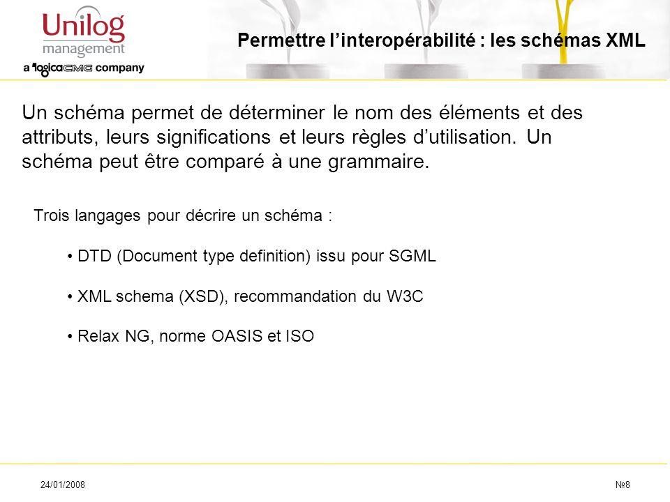 Permettre l'interopérabilité : les schémas XML