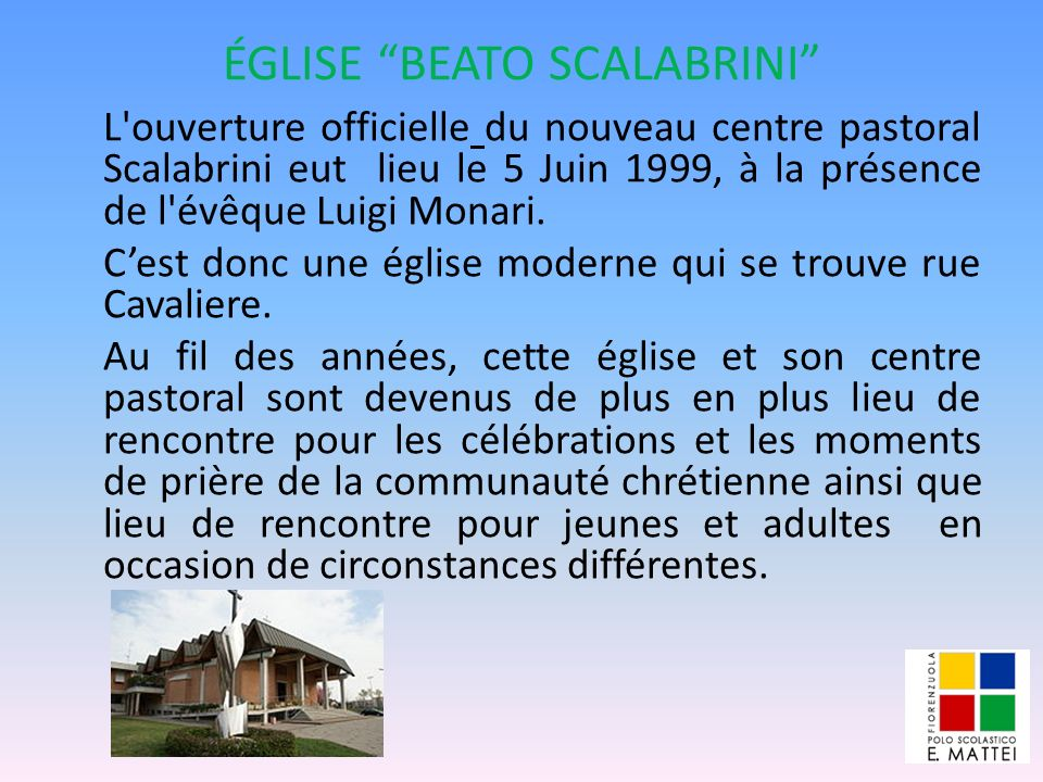 ÉGLISE BEATO SCALABRINI