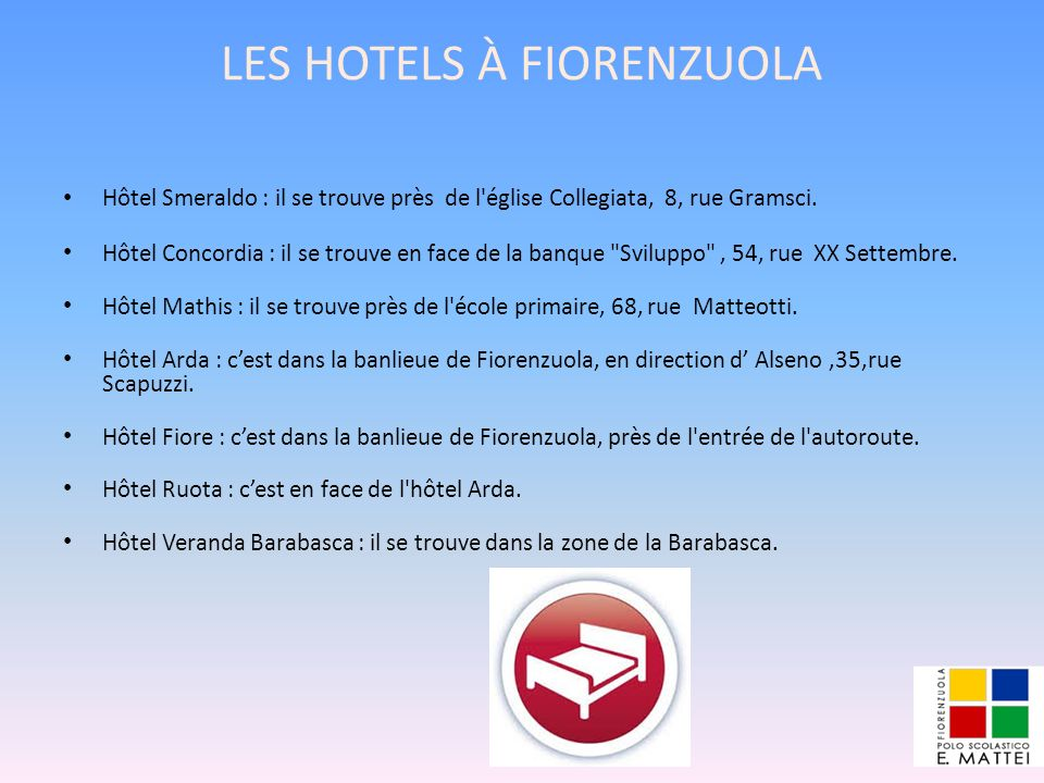 LES HOTELS À FIORENZUOLA