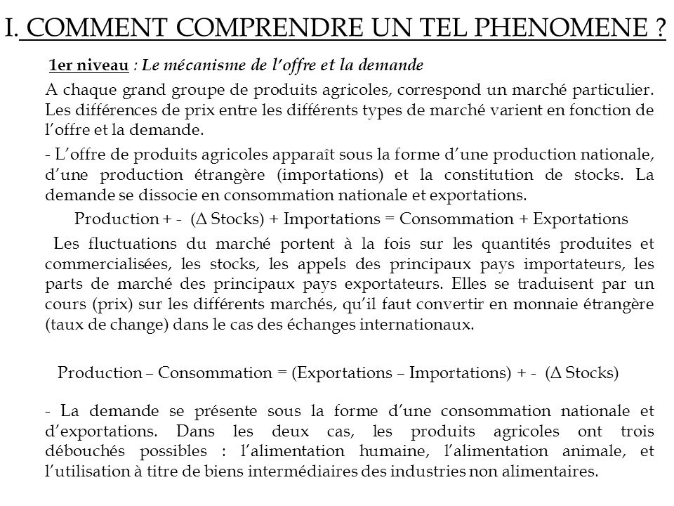 I. COMMENT COMPRENDRE UN TEL PHENOMENE