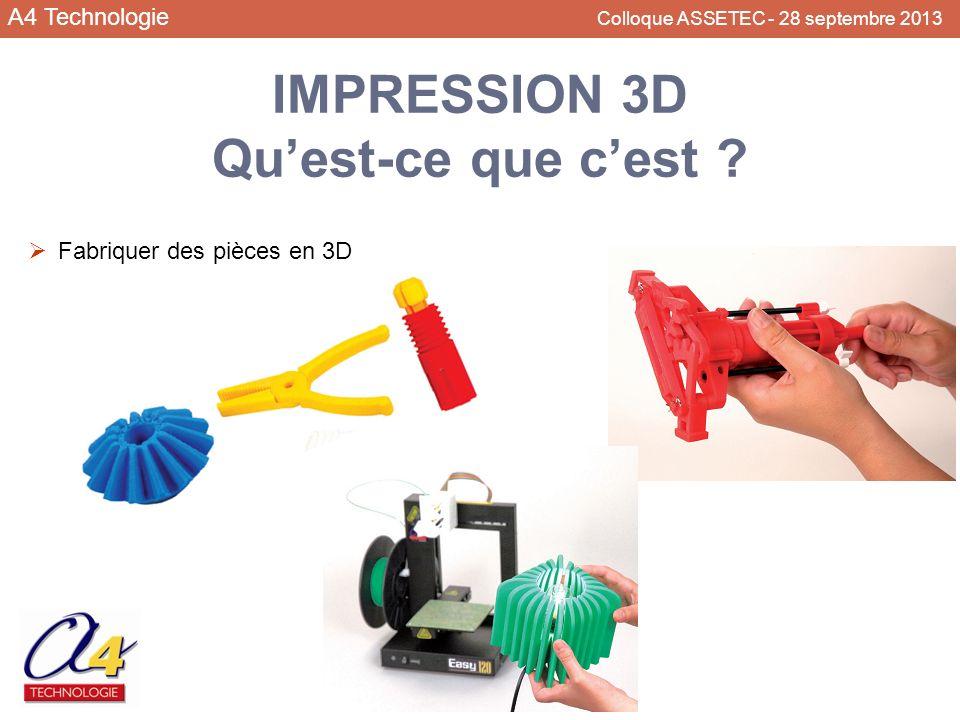 IMPRESSION 3D Qu'est-ce que c'est