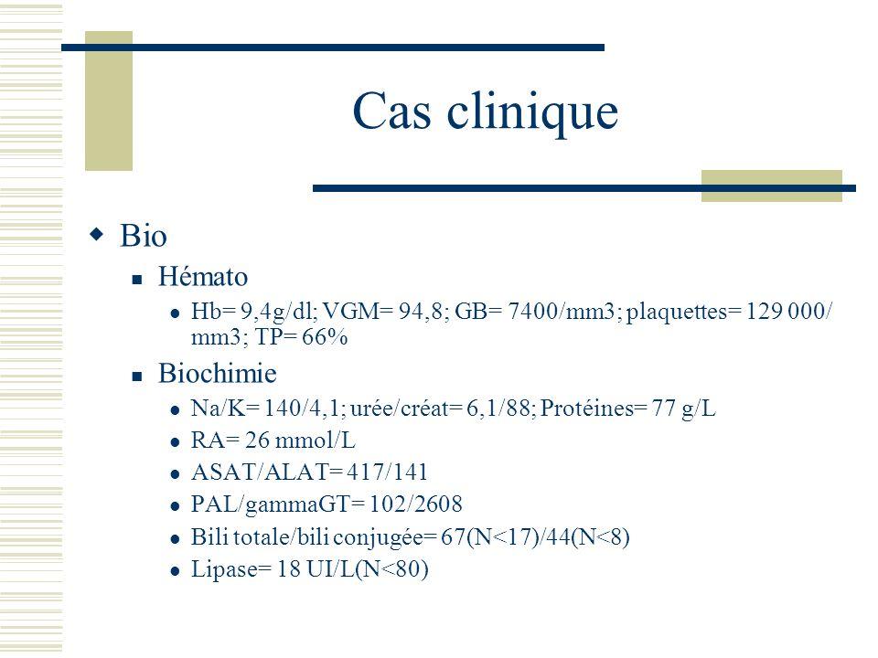 Cas clinique Bio Hémato Biochimie