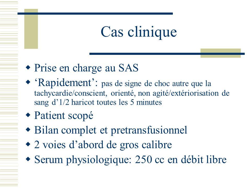 Cas clinique Prise en charge au SAS
