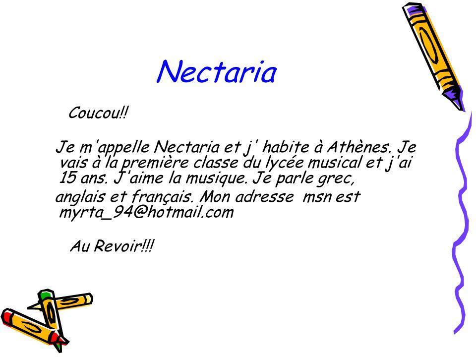 Nectaria Coucou!!