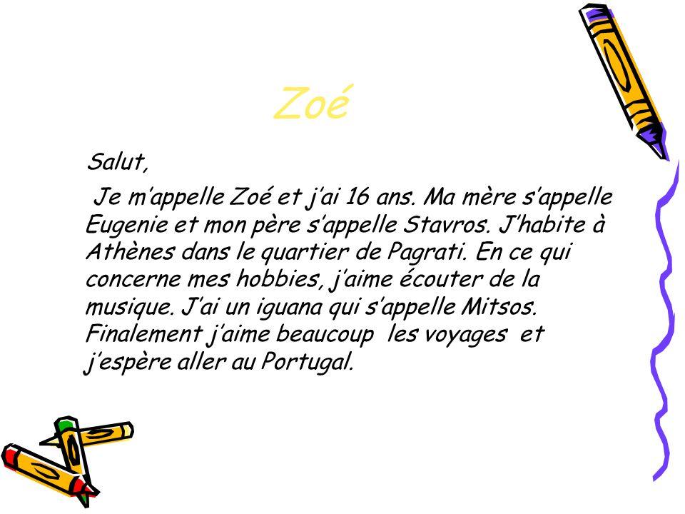 Zoé Salut,