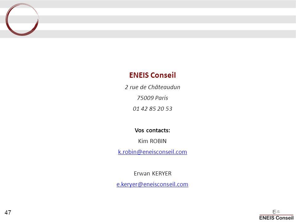 ENEIS Conseil 2 rue de Châteaudun 75009 Paris 01 42 85 20 53