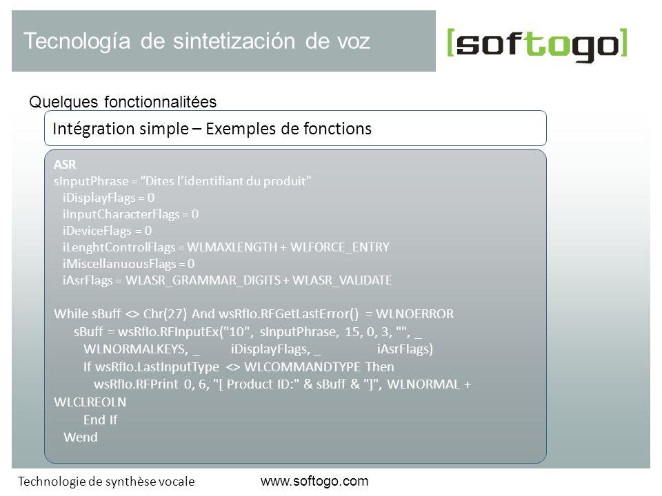 Tecnología de sintetización de voz
