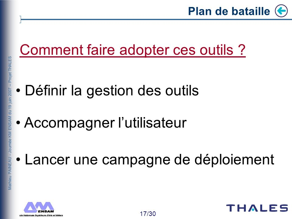 Comment faire adopter ces outils