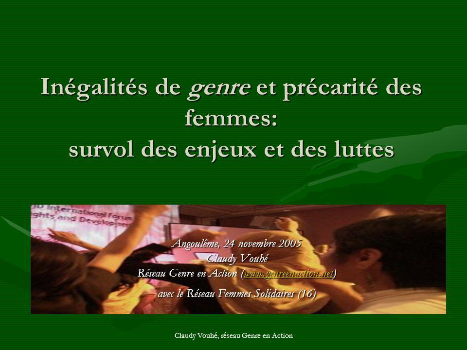 Inégalités de genre et précarité des femmes: survol des enjeux et des luttes