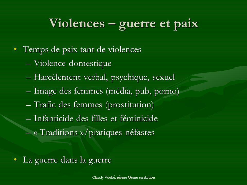 Violences – guerre et paix