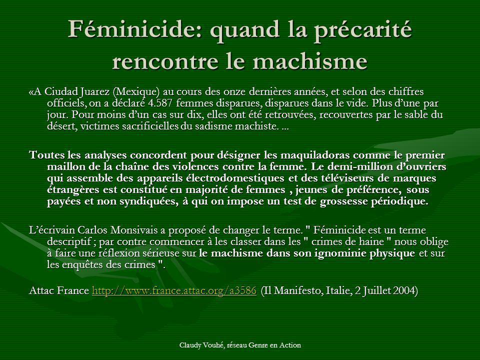 Féminicide: quand la précarité rencontre le machisme