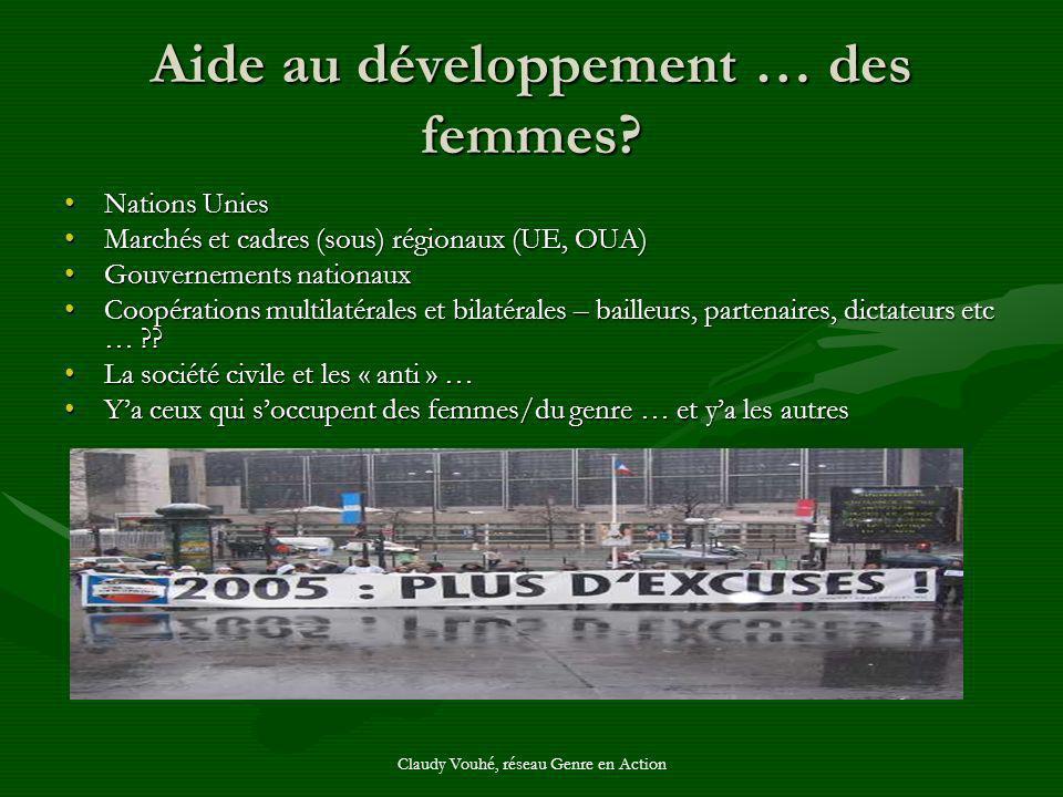 Aide au développement … des femmes