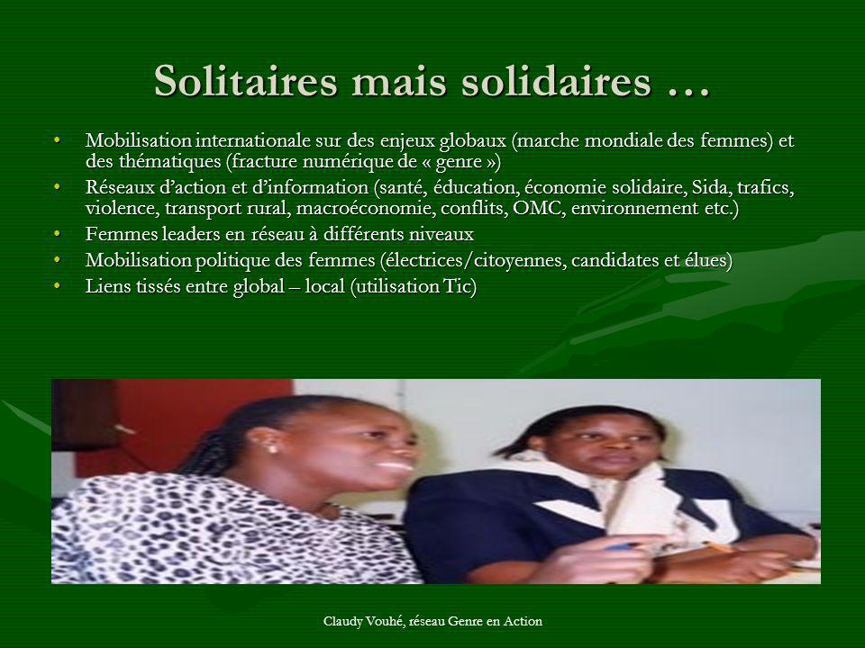 Solitaires mais solidaires …