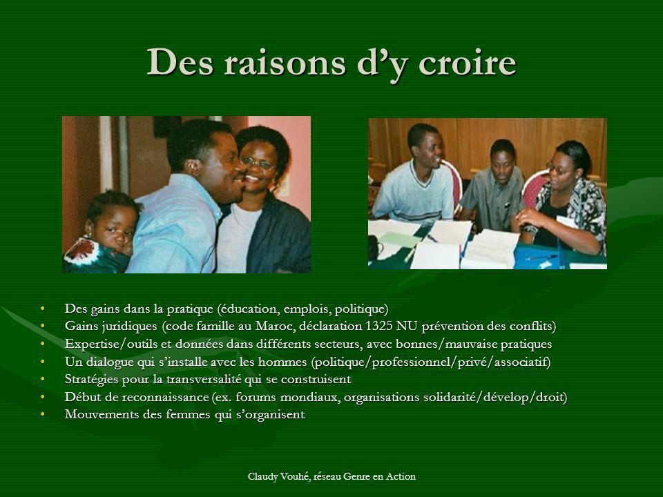 Claudy Vouhé, réseau Genre en Action