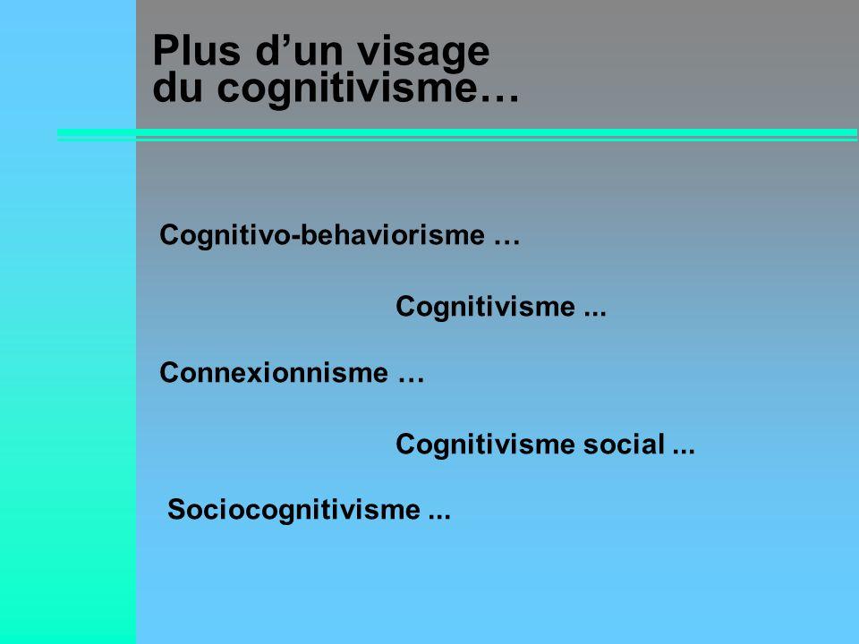 Plus d'un visage du cognitivisme…