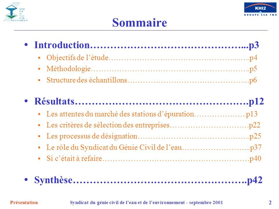 Sommaire Introduction………………………………………...p3