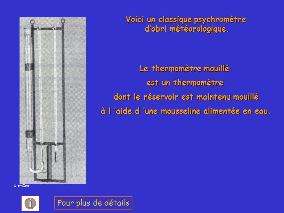 Voici un classique psychromètre d'abri météorologique.