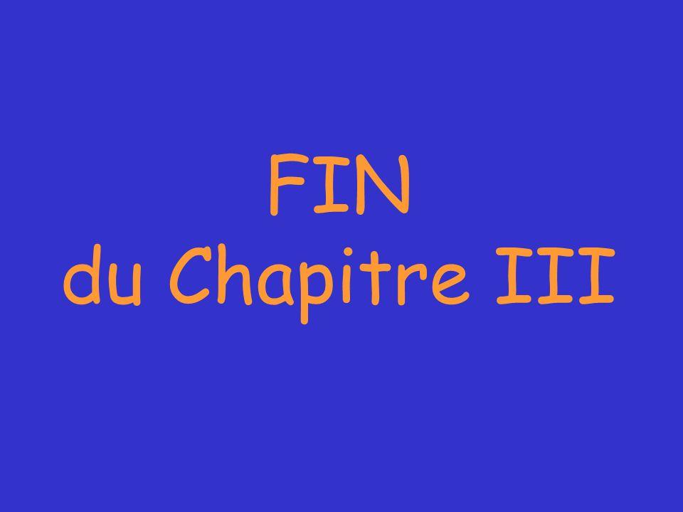 FIN du Chapitre III