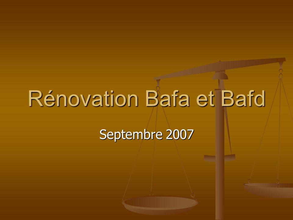 Rénovation Bafa et Bafd