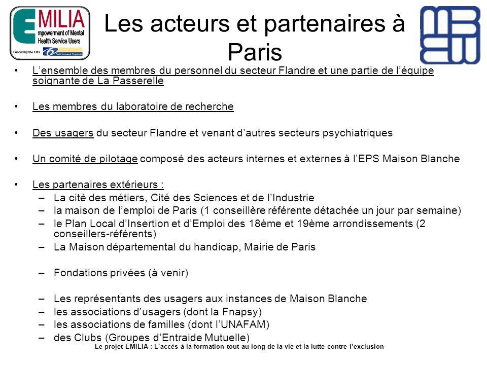 Les acteurs et partenaires à Paris