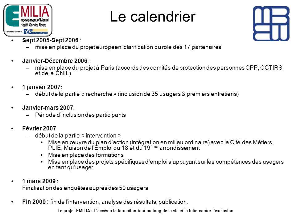 Le calendrier Sept 2005-Sept 2006 :
