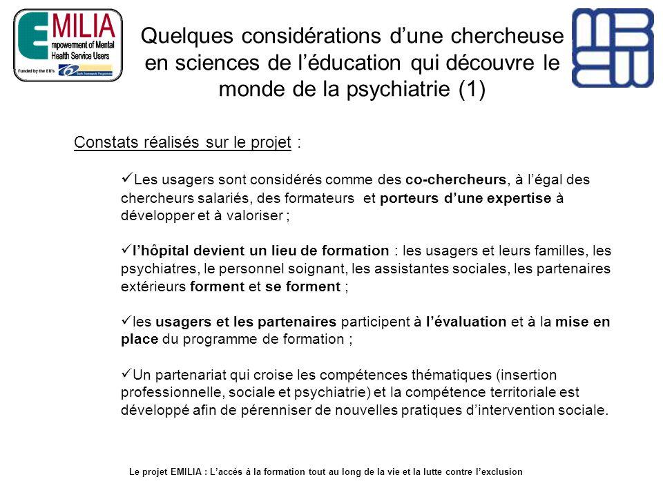Quelques considérations d'une chercheuse en sciences de l'éducation qui découvre le monde de la psychiatrie (1)