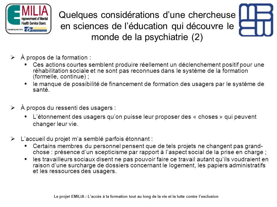 Quelques considérations d'une chercheuse en sciences de l'éducation qui découvre le monde de la psychiatrie (2)