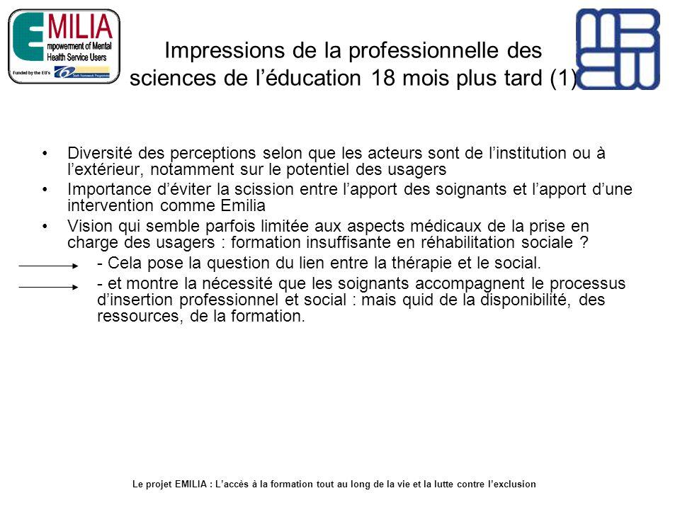 Impressions de la professionnelle des sciences de l'éducation 18 mois plus tard (1)