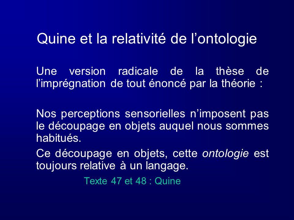 Quine et la relativité de l'ontologie