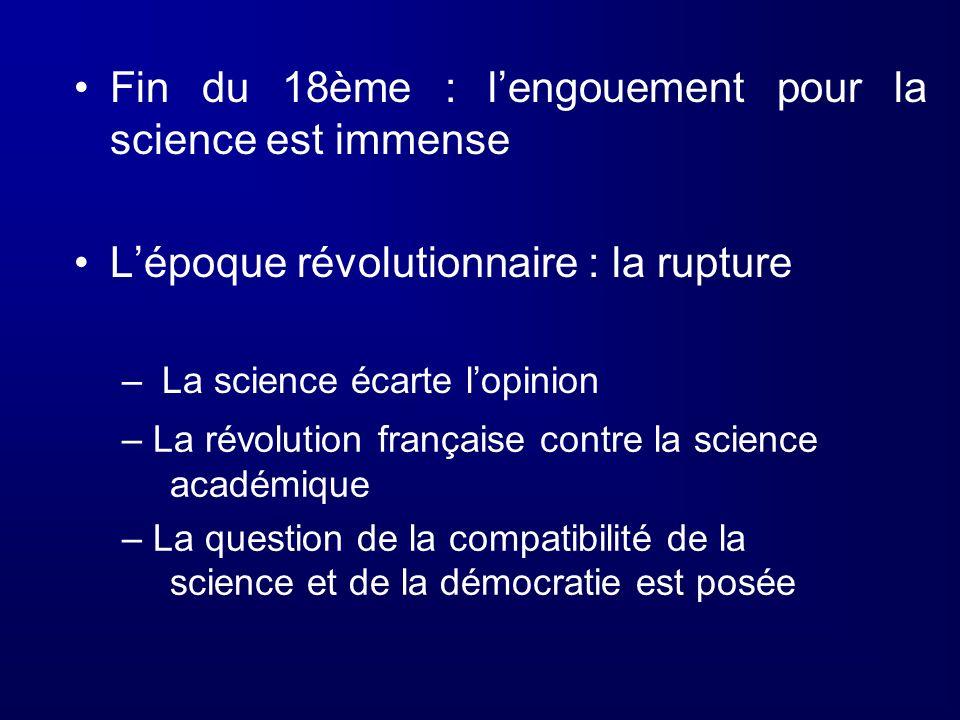 Fin du 18ème : l'engouement pour la science est immense