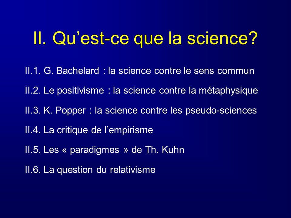 II. Qu'est-ce que la science