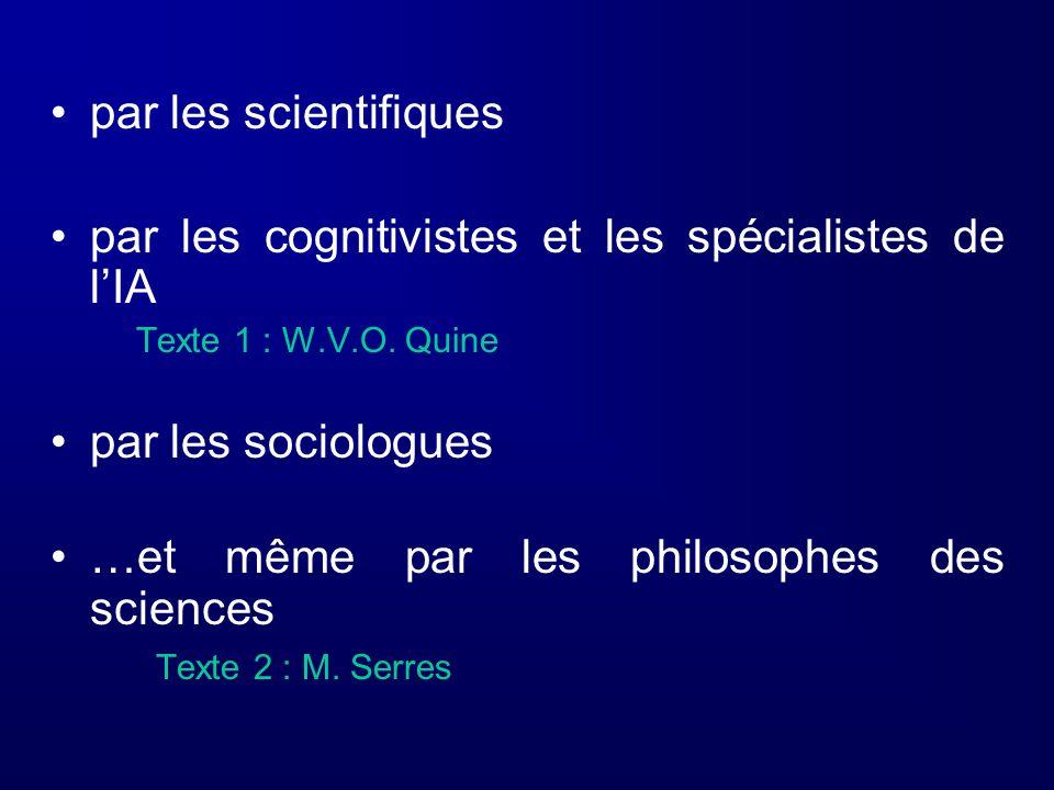 par les cognitivistes et les spécialistes de l'IA
