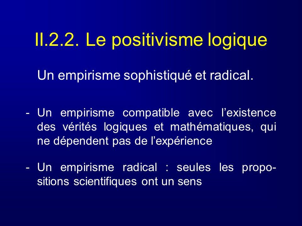 II.2.2. Le positivisme logique