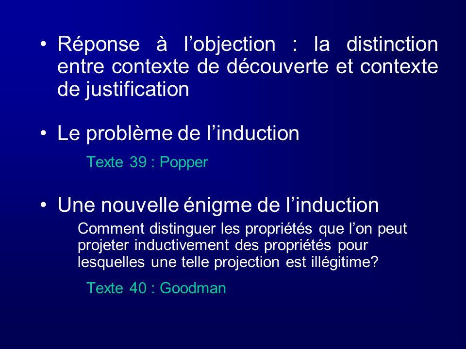 Le problème de l'induction Texte 39 : Popper