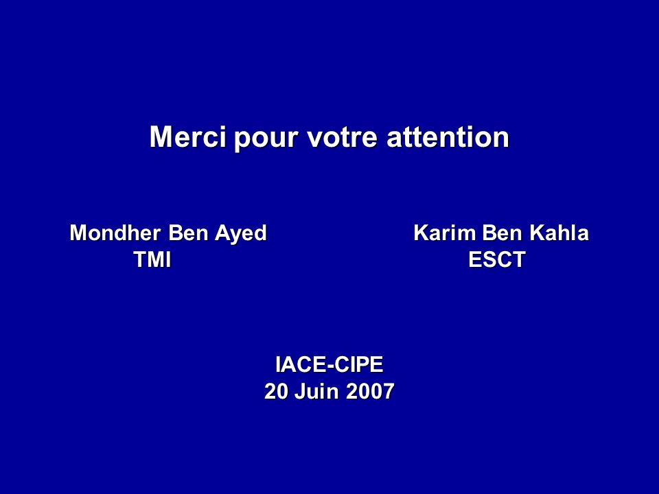 Merci pour votre attention Mondher Ben Ayed Karim Ben Kahla