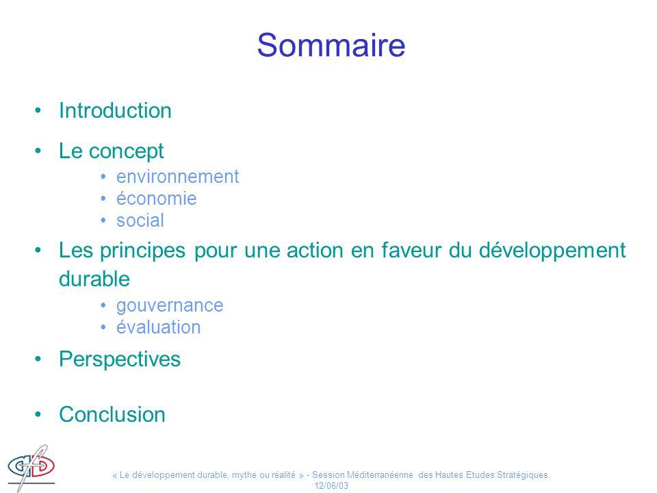 Sommaire Introduction Le concept